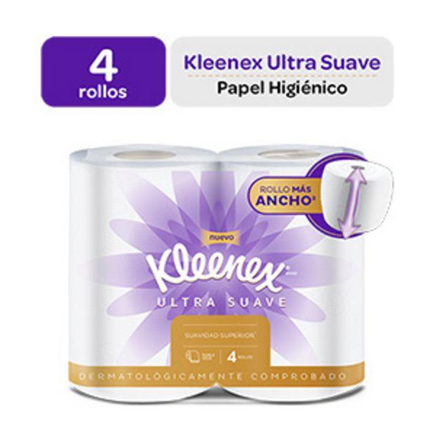 Oferta de Papel Higiénico Kleenex Ultra Suave - Pack 4 UN por S/ 4,9