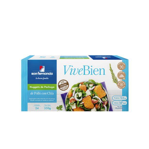 Oferta de ViveBien - Nuggets de pechuga de pollo con chía x 24 und por S/ 13,9