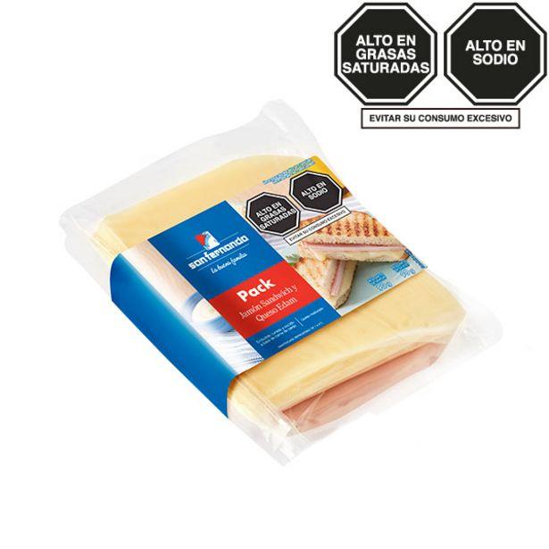 Oferta de Jamón sándwich 90 Gr + Queso edam 90 Gr. por S/ 6,5