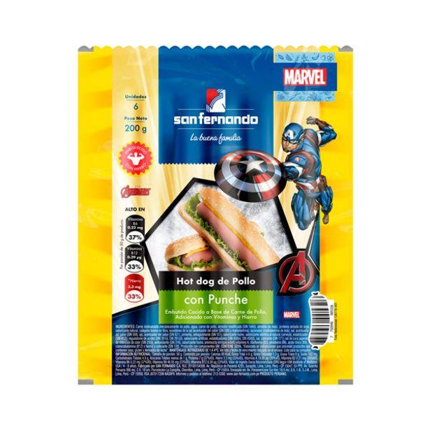 Oferta de Hot dog de pollo con punche x 200 Gr por S/ 3,4