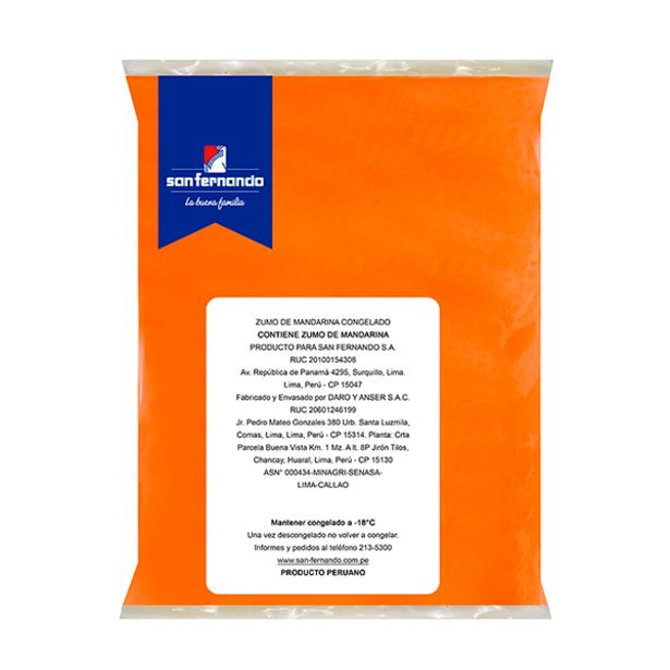 Oferta de Zumo de mandarina congelado  x 1 Kg por S/ 12