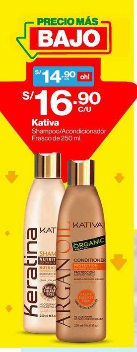 Oferta de Shampoo Kativa Keratina - Frasco 250 ML por S/ 16,9