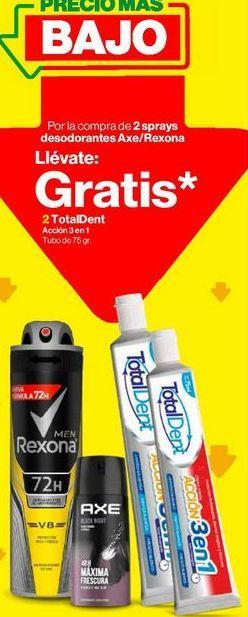 Oferta de Desodorante Axe/Rexona por