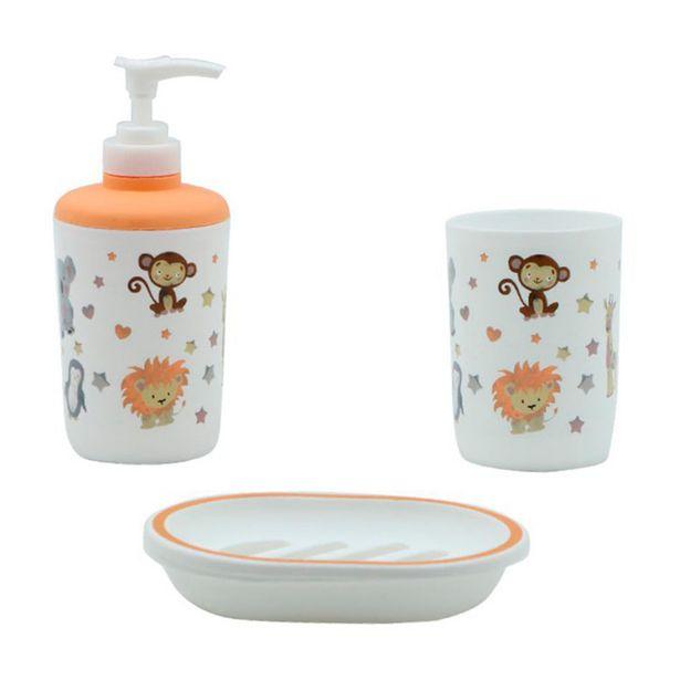 Oferta de Set accesorios de baño 3 piezas Baby Zoo por S/ 9,9