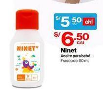 Oferta de Aceite para Bebés Ninet por S/ 5,5