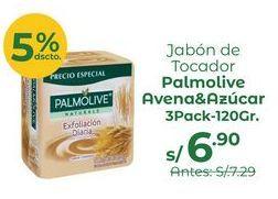 Oferta de Jabón De Tocador Palmolive Avena Y Azúcar 3pack X 120gr por S/ 6,9