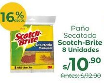 Oferta de Scotch-Brite® Paño Secatodo – Pack 8 Und por S/ 10,9