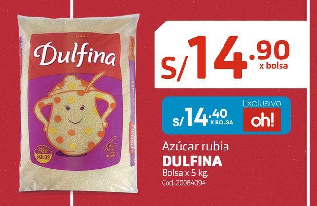 Oferta de Azúcar rubia DULFINA Bolsa x 5 kg. por S/ 14,4