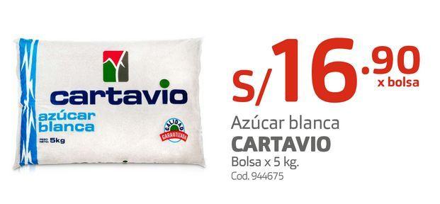 Oferta de Azúcar blanca CARTAVIO Bolsa x 5 kg. por S/ 16,9