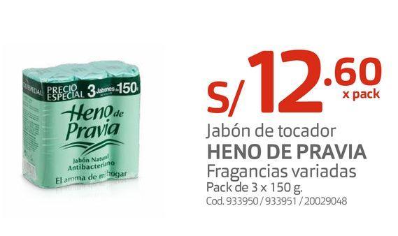 Oferta de Jabón de tocador HENO DE PRAVIA Fragancias variadas por S/ 12,6