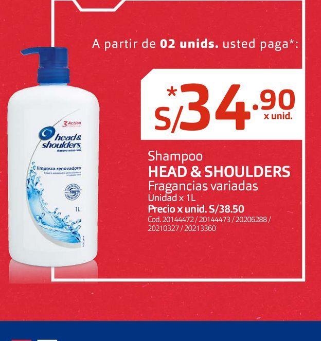 Oferta de Shampoo HEAD & SHOULDERS Fragancias variadas por S/ 34,9
