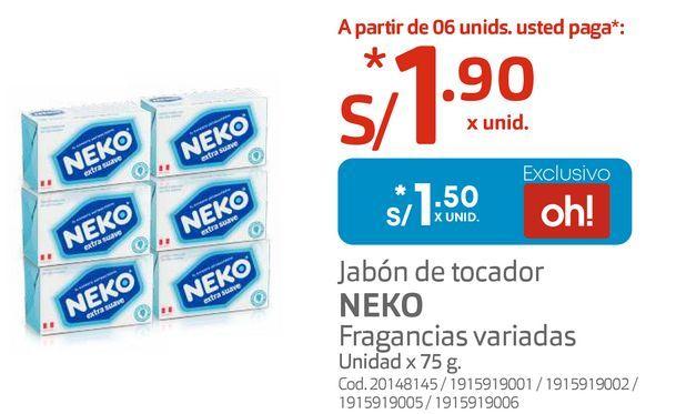 Oferta de Jabón de tocador NEKO por S/ 1,5