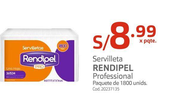 Oferta de Servilleta RENDIPEL Professional  por S/ 8,99