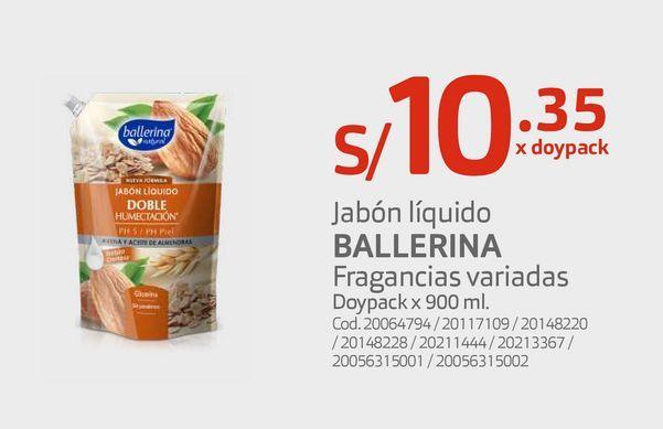 Oferta de Jabón líquido BALLERINA por S/ 10,35