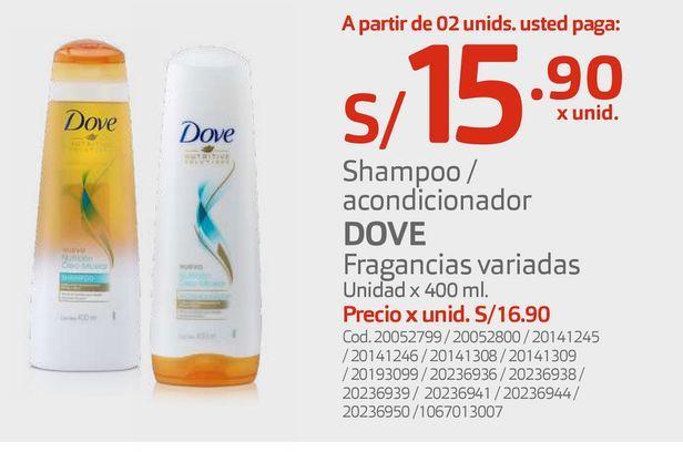Oferta de Shampoo / acondicionador DOVE por S/ 15,9