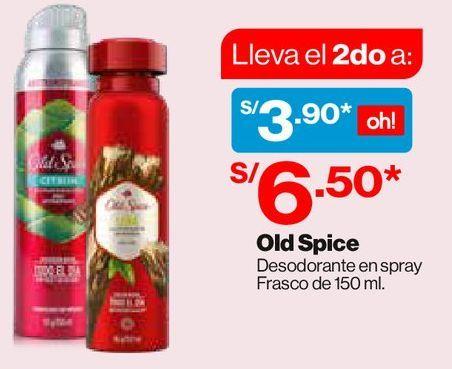 Oferta de Old Spice desodorante en spray 150ml por S/ 6,5
