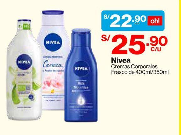 Oferta de Crema Corporal Nutritiva Body Milk Nivea para Piel Extra Seca 400 ML por S/ 22,9