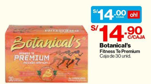 Oferta de Botanical's Fitnes Te Premium 90g - Caja 30 UN por S/ 14