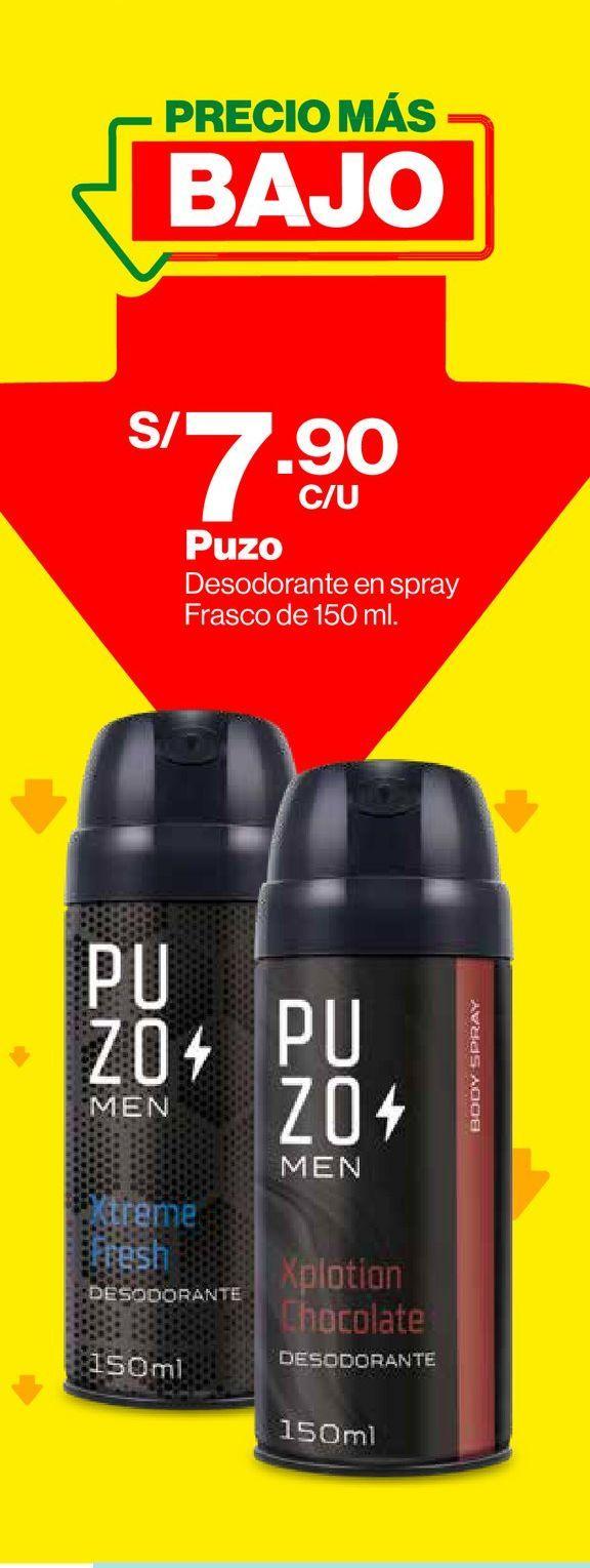 Oferta de Desodorante Body Spray Puzo Xplotion Chocolate - 150 ml por S/ 7,9
