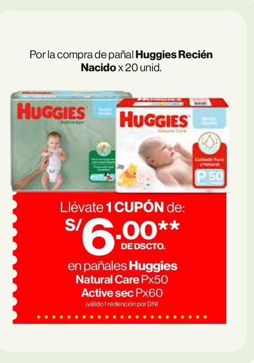 Oferta de Por la compra de pañal HuggiesRecién Nacido x 20 unid. por