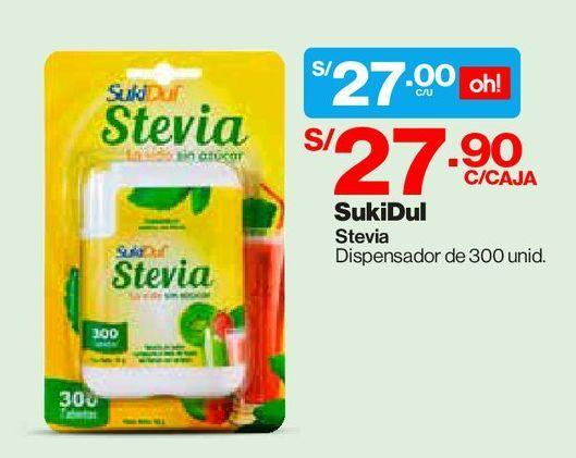 Oferta de Sukidul Stevia Tabletas  DISPENSADOR 300 UN por S/ 27