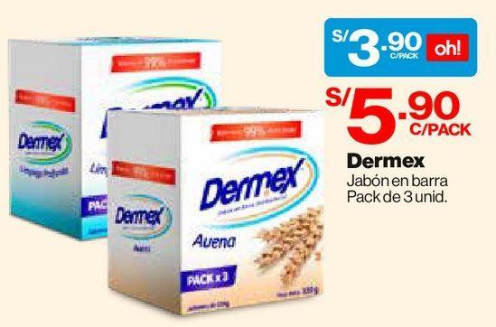 Oferta de Tripack Jabones en Barra Dermex Antibacterial Avena - Pack 3 un por S/ 3,9