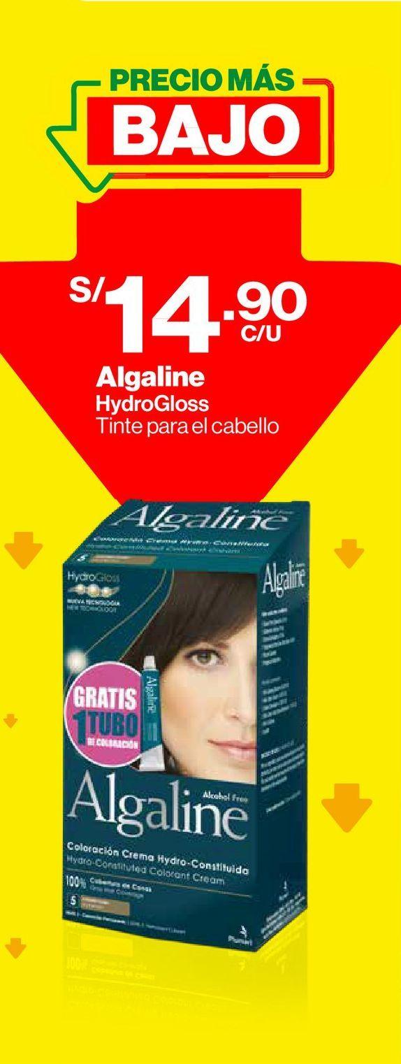 Oferta de Tinte para Cabello Algaline Coloración Permanente Castaño Claro #5 - Kit 1 UN por S/ 14,9