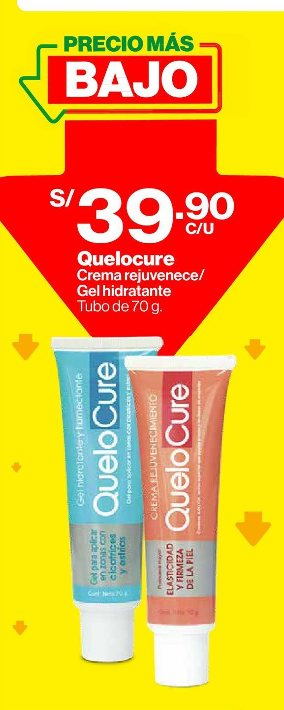 Oferta de Crema Rejuvenece QueloCure 70g por S/ 39,9