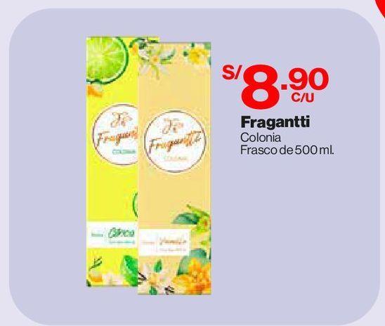 Oferta de Colonia Fragantti Vainilla 500ml por S/ 8,9