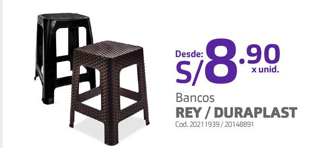 Oferta de Bancos REY / DURAPLAST por S/ 8,9