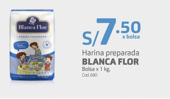 Oferta de Harina preparada BLANCA FLOR Bolsa x 1 kg. por S/ 7,5