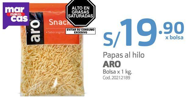 Oferta de Papas al hilo ARO Bolsa x 1 kg por S/ 19,9