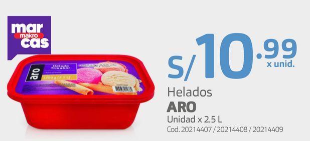 Oferta de Helados ARO Unidad x 2.5 L por S/ 10,99
