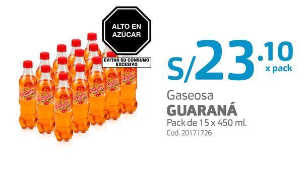Oferta de Gaseosa GUARANÁ Pack de 15 x 450 ml. por S/ 23,1