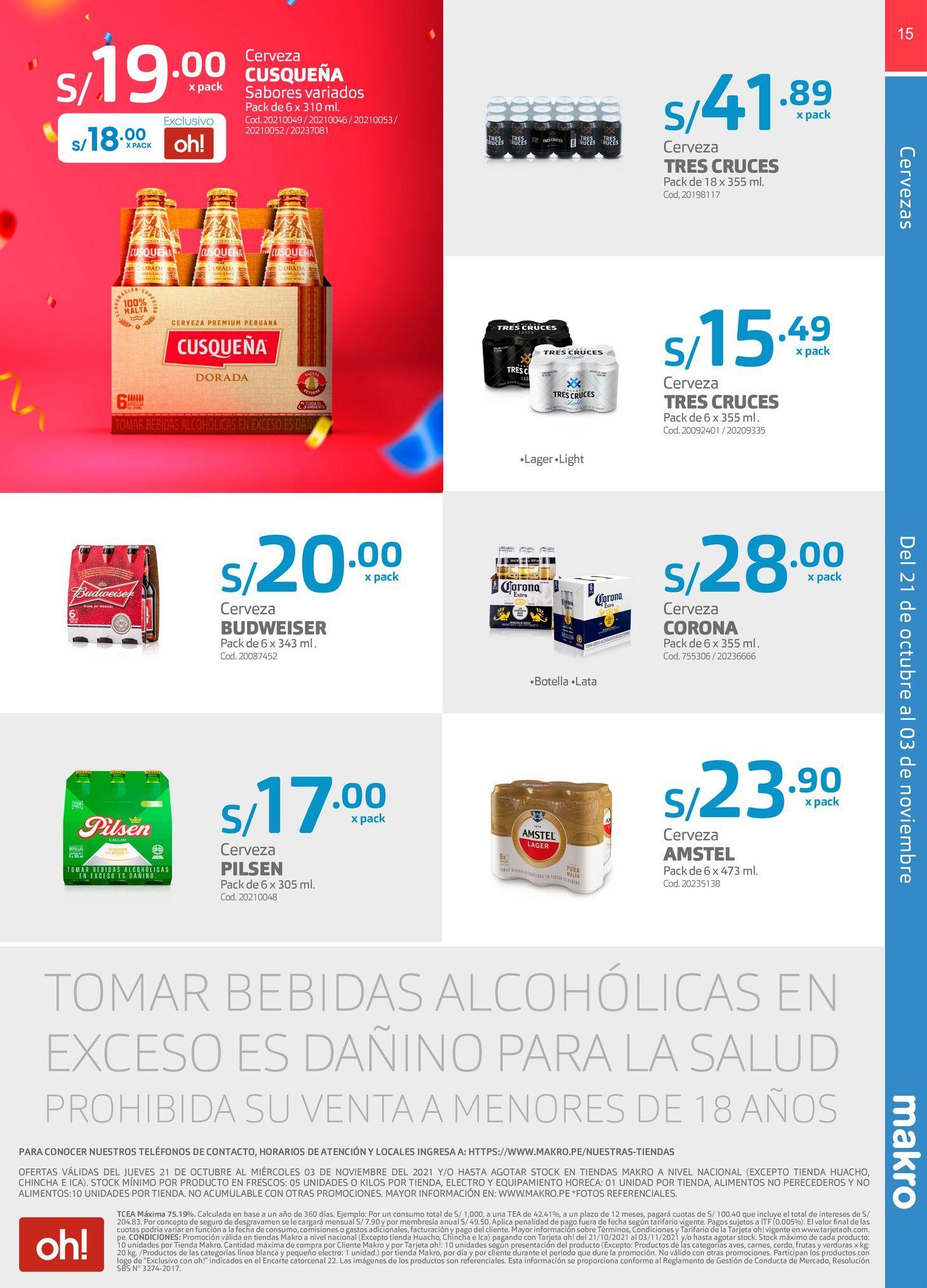 Oferta de Cerveza Cusqueña por