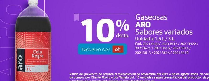 Oferta de Gaseosa Aro -10% por