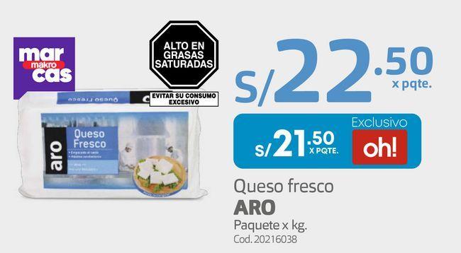 Oferta de Queso fresco ARO Paquete x kg por S/ 21,5