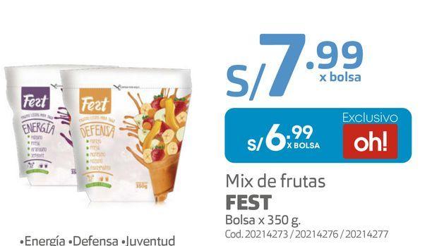 Oferta de Mix de frutas FEST Bolsa x 350 g por S/ 6,99
