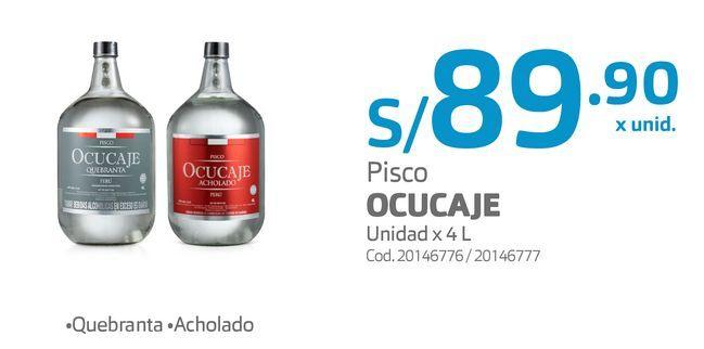 Oferta de Pisco OCUCAJE Unidad x 4 L por S/ 89,9