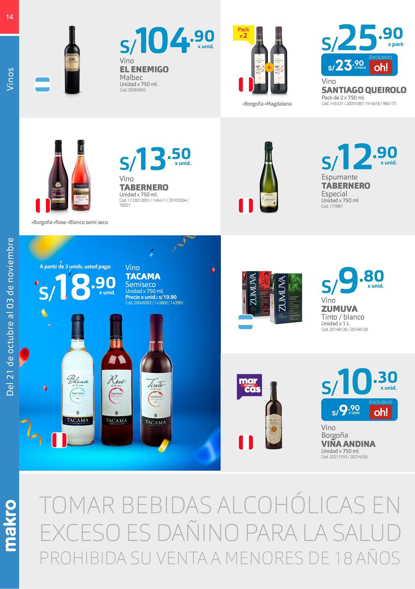 Oferta de Vino Tabernero por