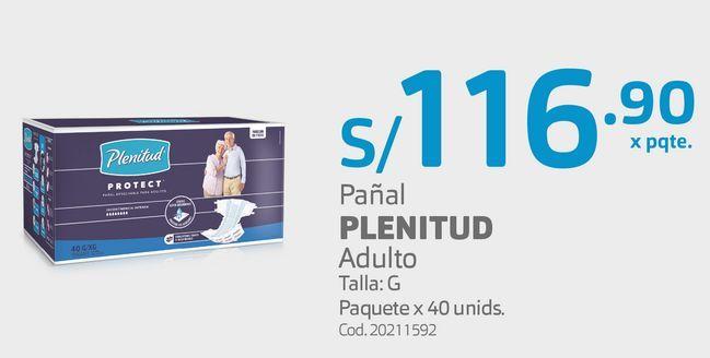 Oferta de Pañal PLENITUD Adulto por S/ 116,9