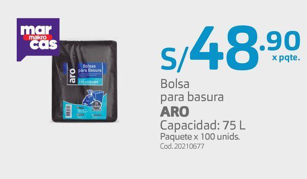 Oferta de Bolsa para basura ARO por S/ 48,9