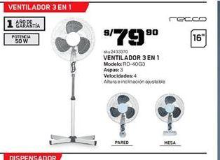 Oferta de Ventiladores Recco por S/ 79.9