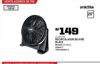 Oferta de Ventiladores Práctika por S/ 149