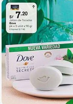 Oferta de Jabón de tocador Dove por S/ 7,2