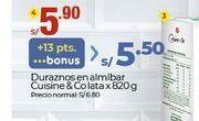 Oferta de Duraznos en almíbar CUISINE & CO por S/ 5,9