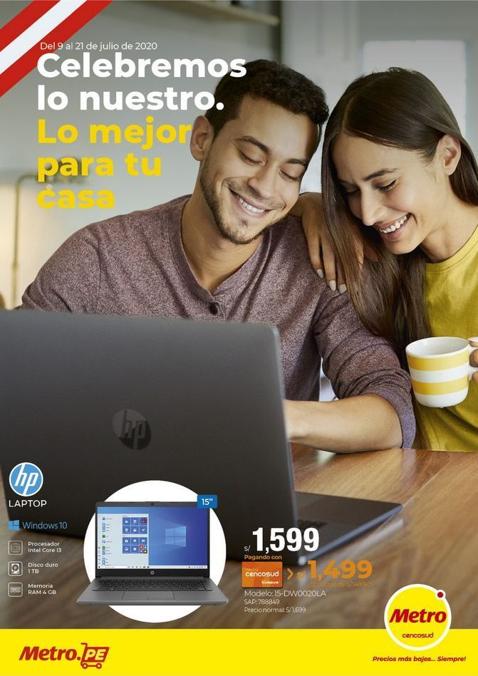 Oferta de Notebook Hp por S/ 1599