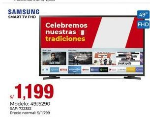 Oferta de Smart tv AOC por S/ 1199
