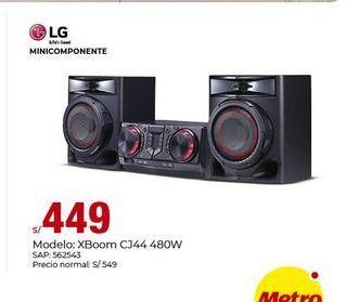 Oferta de Minicomponente Lg por S/ 449