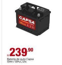 Oferta de Batería de carro CAPSA por S/ 239,9